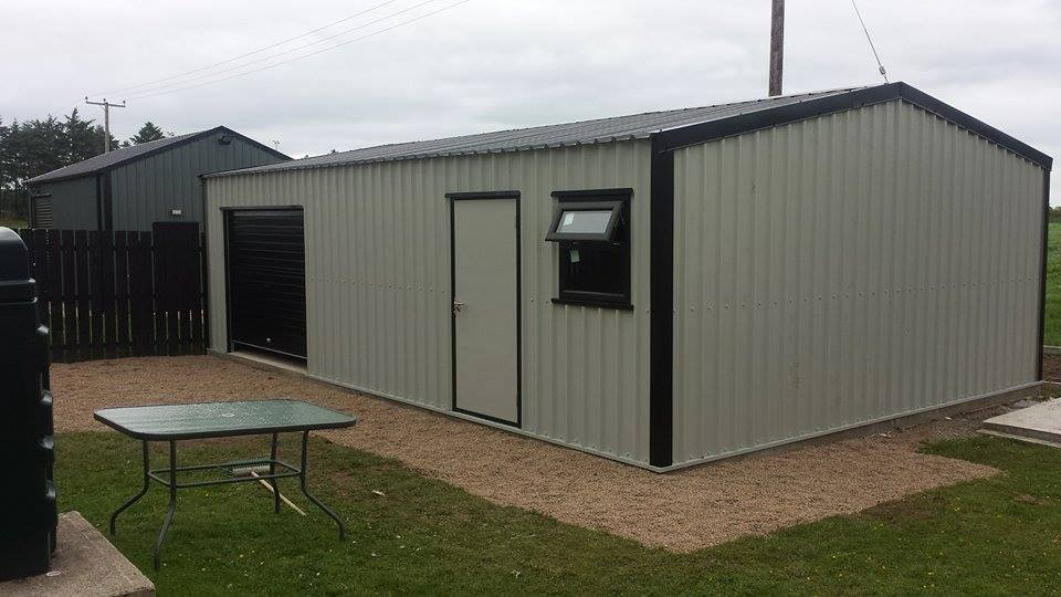Steel Framed Sheds : Steel sheds h